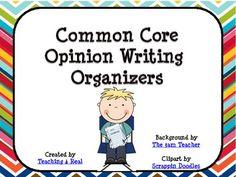 Free Common Core Opinion Writing Organizer