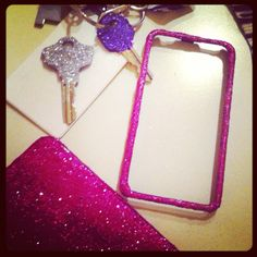 Glitter crafts!! :> for my keys and phone case