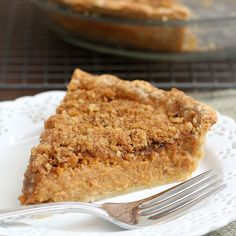 Tracey's Culinary Adventures: Pumpkin Pie with Brown Sugar-Walnut Topping