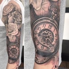pocket watch tattoo46