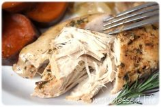 slow cooker chicken - Click image to find more Food & Drink Pinterest pins