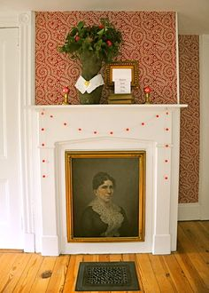 "Unused fireplace ""Christmas Portrait"", The Lettered Cottage"
