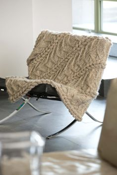 We love how the textured (boucle) Homespun can create beautiful cables - just see for yourself in Lion Brand's Studio Afghan pattern