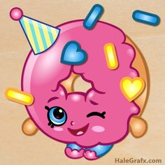 FREE Printable Shopkins Pin the sprinkles on D'lish Donut, Shopkins party games | Mandy's Party Printables