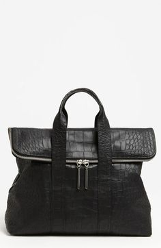 3.1 Phillip Lim 31 Hour Croc Embossed Leather Tote  I love the overall construction of this bag.