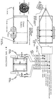 6 Wire Trailer Plug Wiring Diagram 04 Dodge Durango Fuse Planos Para Fabricar Acoplados O Batan Trailers En 2019 Circuit