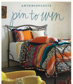 a beautiful bedroom #anthropologie #pintowin