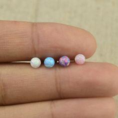opal earring opal tragus earrings16G opal by vickybodyjewelry