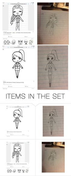 """First or second attempt to drawing Chibis"" by mermaid-princess-loves-music ❤ liked on Polyvore featuring art"