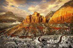 december 2011: zion national park in winter