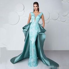 Fashion Blue Illussion Jewel Appliqued Lace Mermaid Floor Length Evening Dresses Over Skirts 2017 Arabic Occasion Prom Gowns Plus Size Prom Evening Beaded Evening Gowns Sexy Luxury Formal Gowns Online with $158.0/Piece on Magicdress2011's Store | DHgate.com