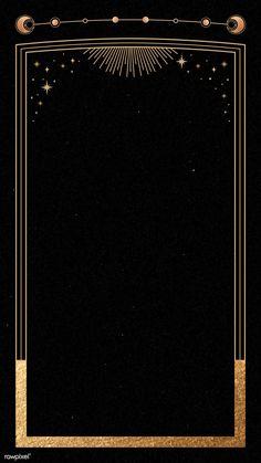 Mystical gold frame on black background mobile phone wallpaper Black Background Wallpaper, Textured Background, Background Images, Gold And Black Background, Phone Backgrounds, Black Backgrounds, Wallpaper Backgrounds, Mystic Backgrounds, Iphone Wallpaper Moon