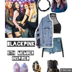 Credits to:(Go Visit) Blackpink Fashion, Kpop Fashion Outfits, Girls Fashion Clothes, Stage Outfits, Korean Fashion, Crop Top Outfits, Pink Outfits, Retro Outfits, Cute Outfits