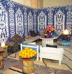 The Morocco-inspired setting at our party at Hôtel de Sully