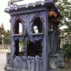 Our inspiration piece for the candy crypt. This display is used in #disneylandparis as the Jack Skellington character meet and greet backdrop during #halloweentime we are making it into a crypt/candy vending machine of sorts. #halloween #therrienmanor #diyprops #halloweencraft #homehaunt
