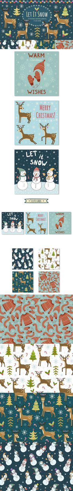 Let It Snow: patterns & cards. Christmas Patterns