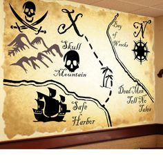 map mural - except I'd use the map of Neverland