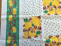 Hey, I found this really awesome Etsy listing at https://www.etsy.com/listing/264841082/vintage-cotton-feedsack-kitchen-fruit