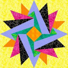 Free quilting pattern: Indian Summer Paper Pieced Block Like the colors and neat design Paper Piecing Patterns, Quilt Block Patterns, Pattern Blocks, Pattern Paper, Summer Quilts, Star Quilt Blocks, Foundation Paper Piecing, Barn Quilts, Quilt Tutorials