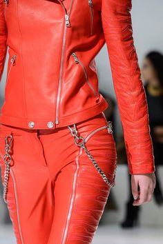 Red Punk #Fashion Trend for Fall Winter 2013 | Versace Fall Winter 2013  #MFW #Trends
