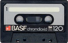 """BASF Chromdioxid 120"" Blank Audio Cassette Tape"