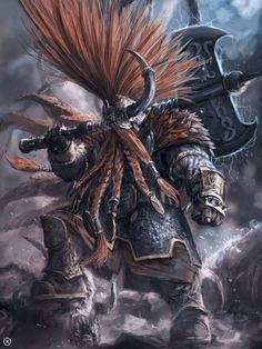 warhammer fantasy chaos dwarfs art - Google-Suche