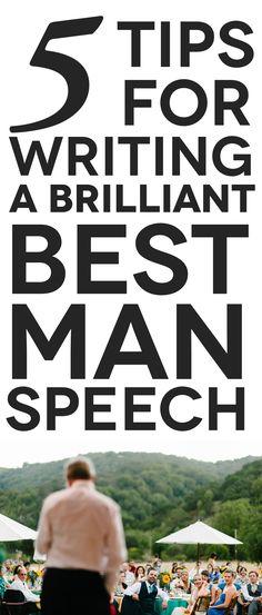 Best man speech writing