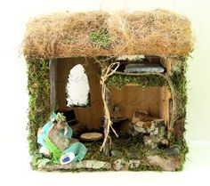 Thatched Cottage Woodland Fairy House - Between The Weeds Studio