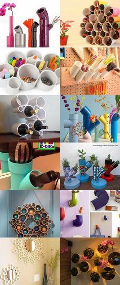 Recicle, Renove, Decore usando canos de PVC.