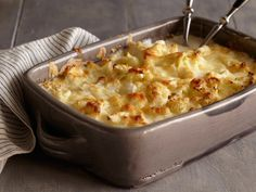 Cauliflower-Goat Cheese Gratin Recipe : Bobby Flay : Food Network - FoodNetwork.com