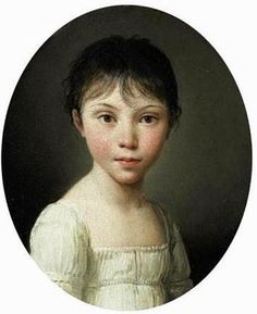 Jeune fille Louis-Léopold Boilly (1761 – 1845, French) Truely an elfin face.