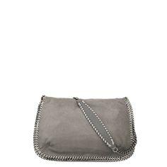 de81132b8b302 Stella McCartney - Light Grey Falabella Shaggy Deer Messenger Bag - AI15 -  f Sapatos,