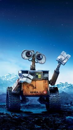 WALL·E Phone Wallpaper - Fondos de pantalls Disney Phone Wallpaper, Cartoon Wallpaper, Wall Wallpaper, Film Disney, Disney Art, Movie Wallpapers, Cute Wallpapers, Phone Wallpapers, Walle Y Eva