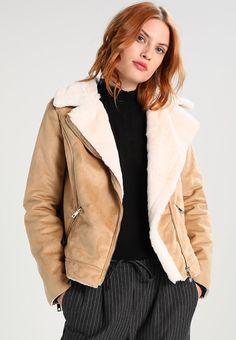 Dorothy Perkins SHORT BIKER - Faux leather jacket - tan - Zalando.co.uk
