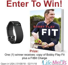 Share your 2018 fitness goals for a chance to win a FitBit Charge and Bobby Flay FIT Cookbook.