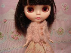 Blythe and Pullip Shell Pink Mohair Sweater by DollyDressUp, $11.00