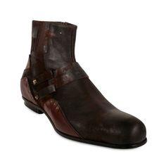 Cesare Paciotti Men's Shoes Designer Suede Distressed Brown Leather Boots Size UK 7