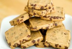 espresso chocolate chip shortbread cookie recipe | use real butter