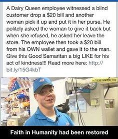 And the good Samaritan award goes to this guy…