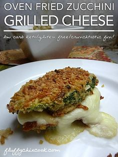 Sometimes you just want a simple, no fuss, low carb, skinny grilled cheese sandwich you know? Join Fluffy Chix Cook to learn how to whip out a Crunchy Low Carb Oven Fried Zucchini Grilled Cheese Sa… Low Carb Keto, Low Carb Recipes, Cooking Recipes, Healthy Recipes, Cooking Ribs, Cooking Steak, Cooking Games, Simple Recipes, Healthy Meals