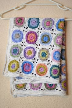 Ravelry: Project Gallery for Pokey Dots Throw pattern by Coats  Clark