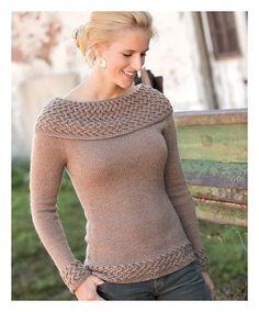 Ravelry: Engleside Cowl-Neck Pullover pattern by Heather Zoppetti - Beautiful, beautiful yoke.