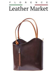 Apple Uk, Florence Italy, Italian Leather, Backpack Bags, Dark Brown, Convertible, Fashion Accessories, Backpacks, Shoulder Bag