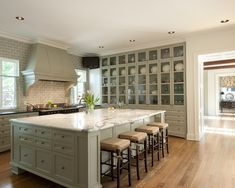 Paint cabinets a grey color.. Traditional Kitchen Design, Pictures, Remodel, Decor and Ideas - page 19