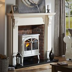 Newest Photos fake Fireplace Surround Tips Concrete fireplaces can turn a typical room into something extraordinary. But careful planning and d Faux Fireplace Mantels, Candles In Fireplace, Farmhouse Fireplace, Fireplace Surrounds, Fireplace Design, Fireplace Ideas, Fireplaces, Fireplace Redo, Mantles