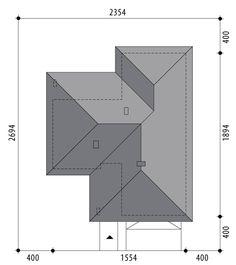 Nela V - Dobre Domy Flak & Abramowicz Village House Design, Bungalow House Design, Stair Plan, Three Bedroom House Plan, Weekend House, Closet Designs, Small House Plans, Cool House Designs, Simple House