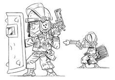 Mercenary Kings art by Stéphane Boutin.