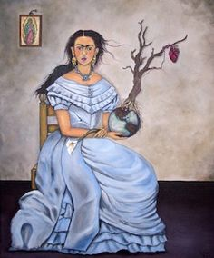 Frida Kahlo stretched canvas print  by DavidFloresArte on Etsy, $ 50.00