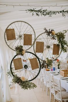 Bike Bicycle Wheel Seating Table Plan Chart Beautiful Bohemian Beach Glamping Wedding http://www.thecurries.co/
