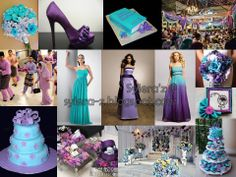 Purple and Turquoise Wedding Centerpieces | Purple & Turquoise